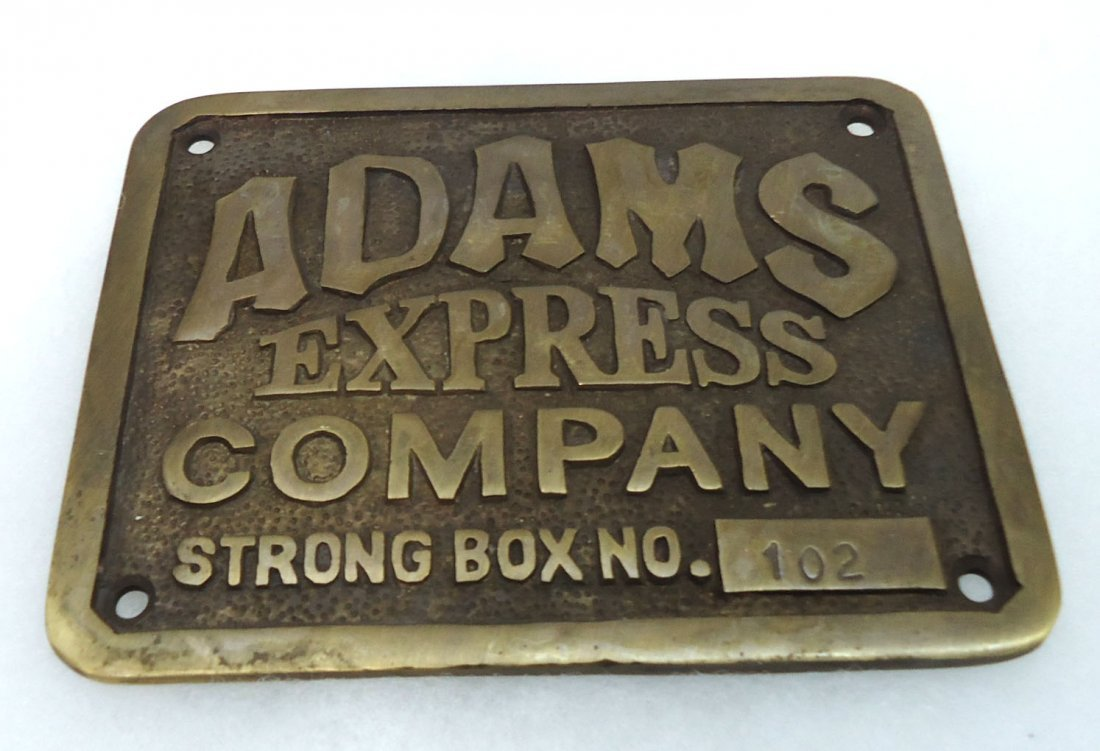 Modern Adam's Express Co. Plaque