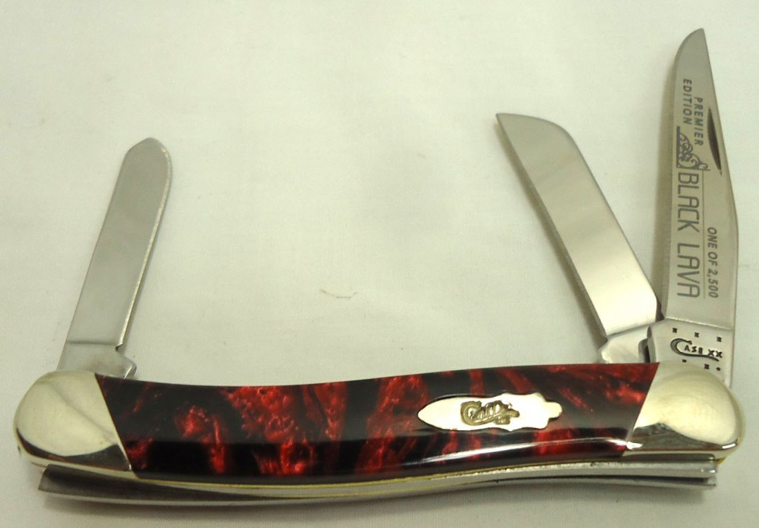 "3 1/2"" Case XX Black Lava Pocket Knife"