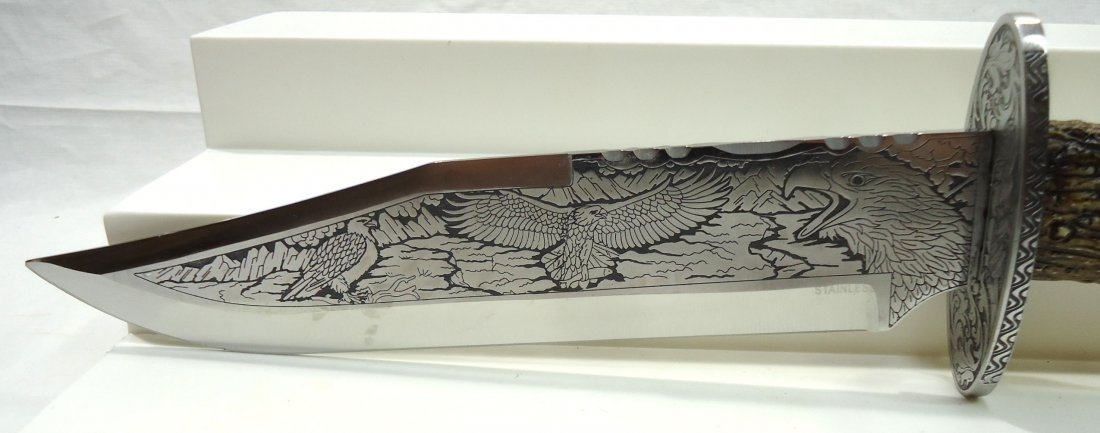 "14 1/2"" Eagle Presentation Bowie Knife - 3"