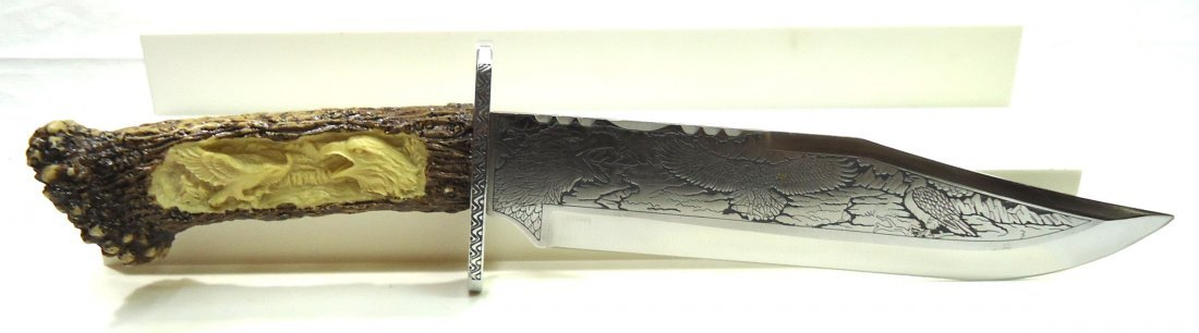 "14 1/2"" Eagle Presentation Bowie Knife - 5"