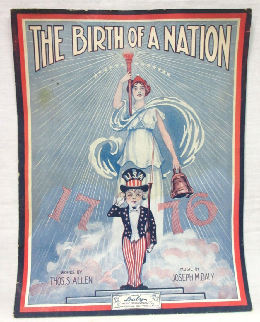 "1915 Sheet Music ""Birth of a Nation"""