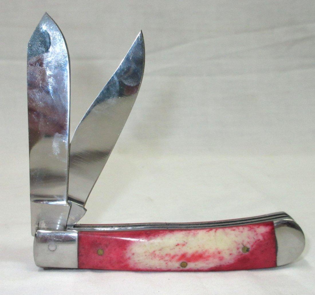 """4 1/8"""" Red Bone Pocket Knife"""