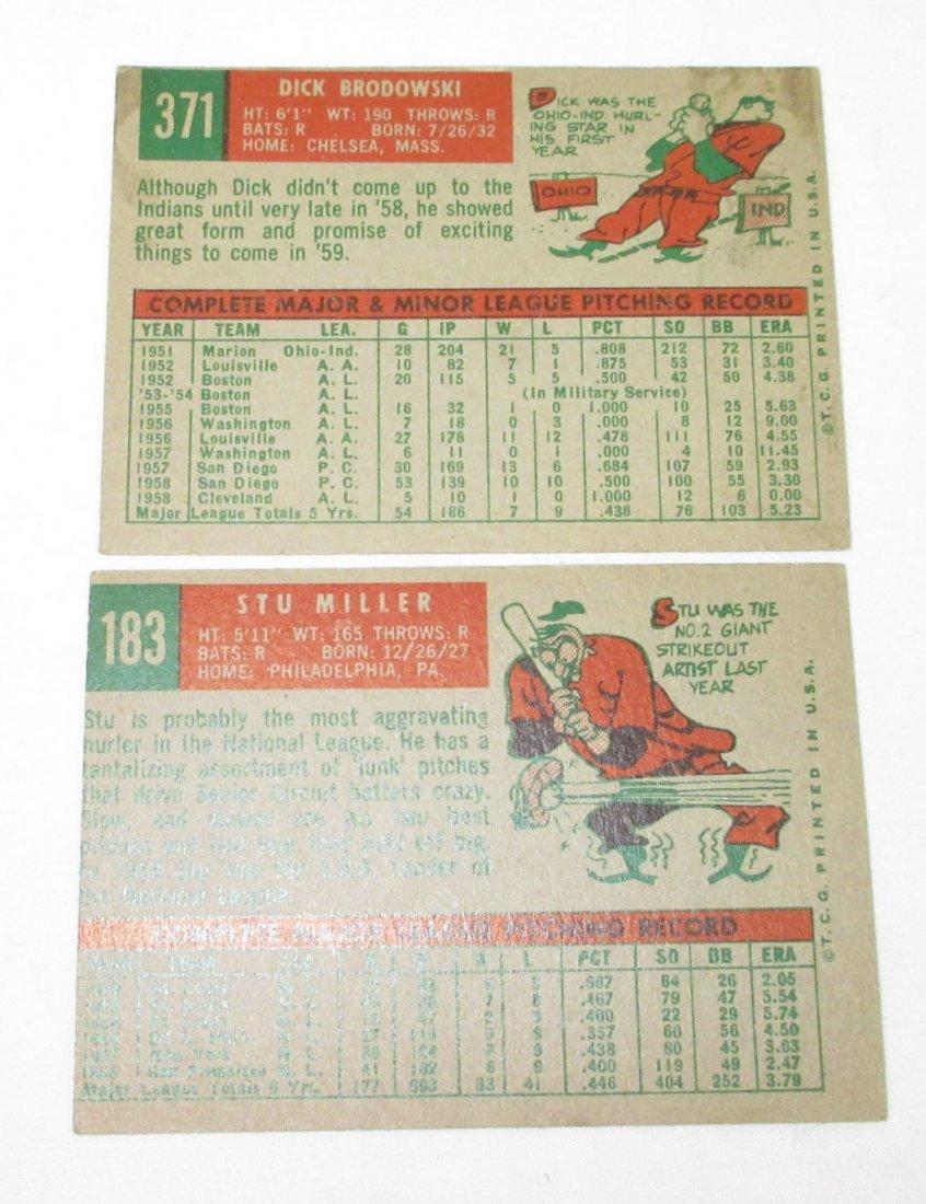 (5) 1959 Topps Baseball Cards - 3