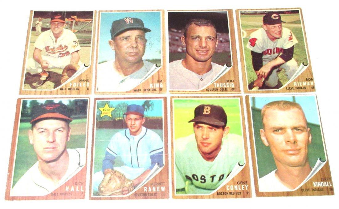 (8) 1962 Topps Baseball Cards