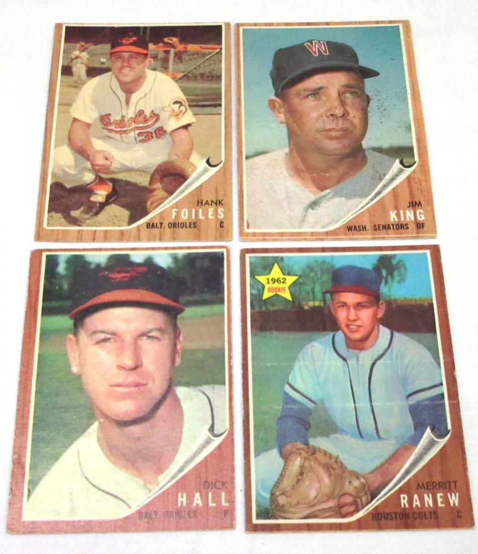 (8) 1962 Topps Baseball Cards - 2