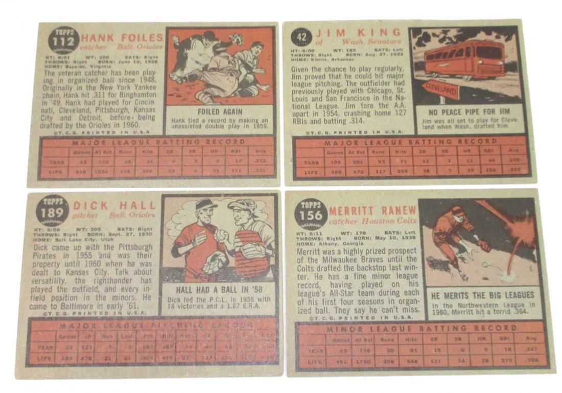 (8) 1962 Topps Baseball Cards - 3