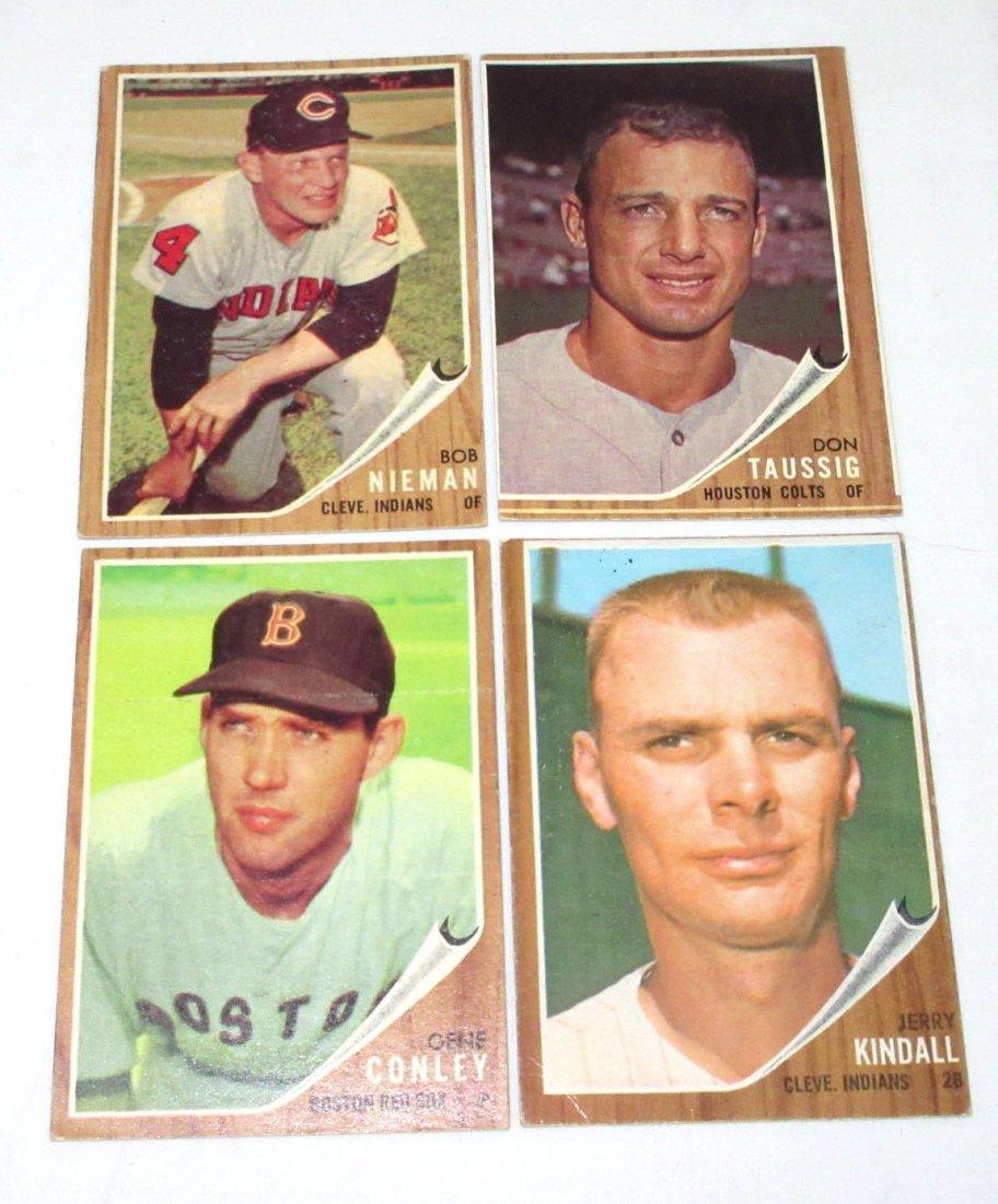 (8) 1962 Topps Baseball Cards - 4