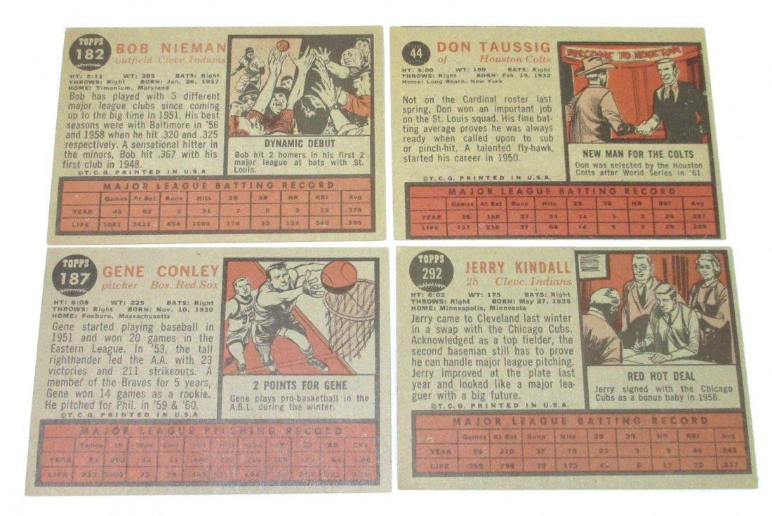 (8) 1962 Topps Baseball Cards - 5