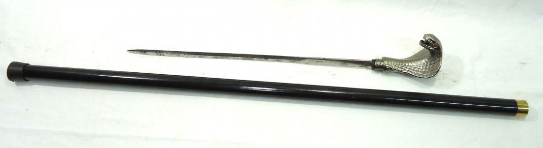 Cobra Head Sword Cane - 3