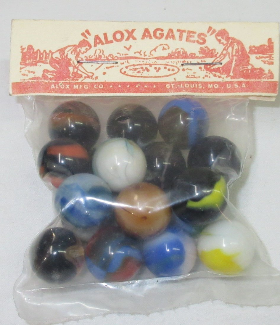 "Bag of ""Alox Agates"" Marbles"