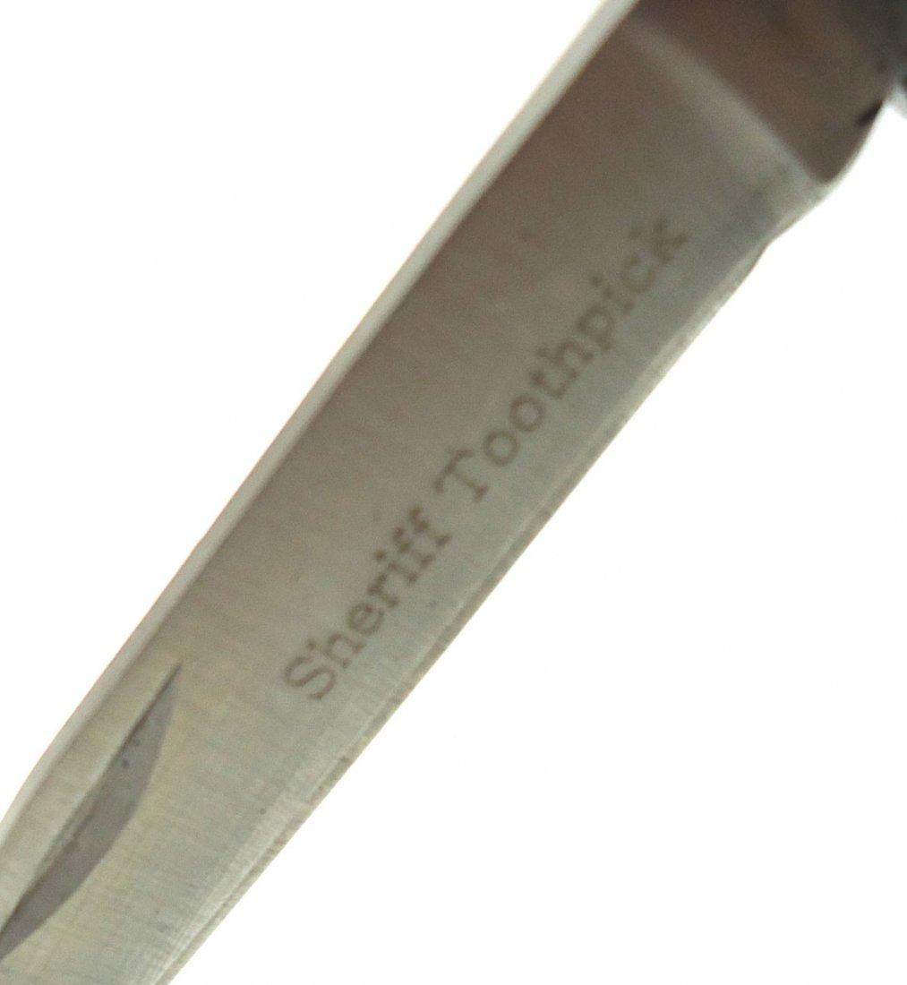 """2 3/4"""" Sheriffs Toothpick Pocket Knife - 2"""