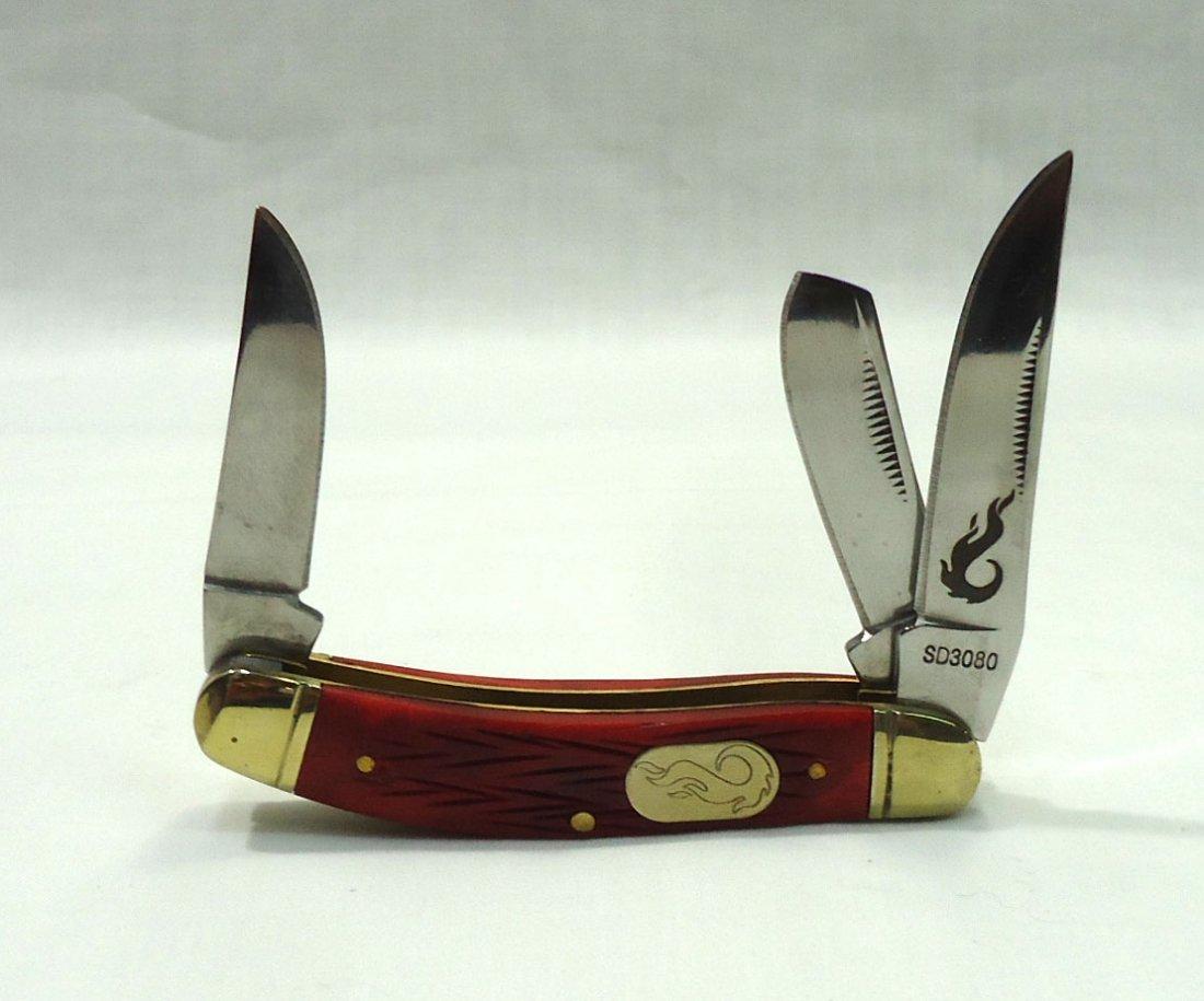 Red Bone Handle Pocket Knife