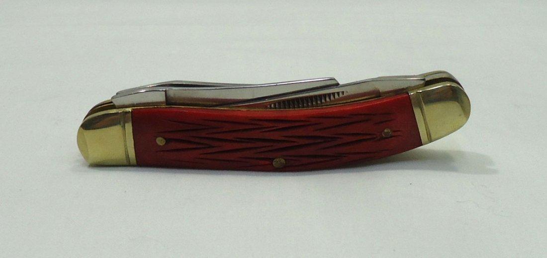 Red Bone Handle Pocket Knife - 3