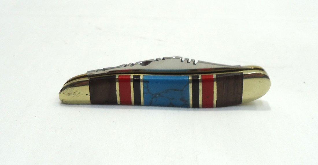 Inlaid Turquoise Pocket Knife - 2