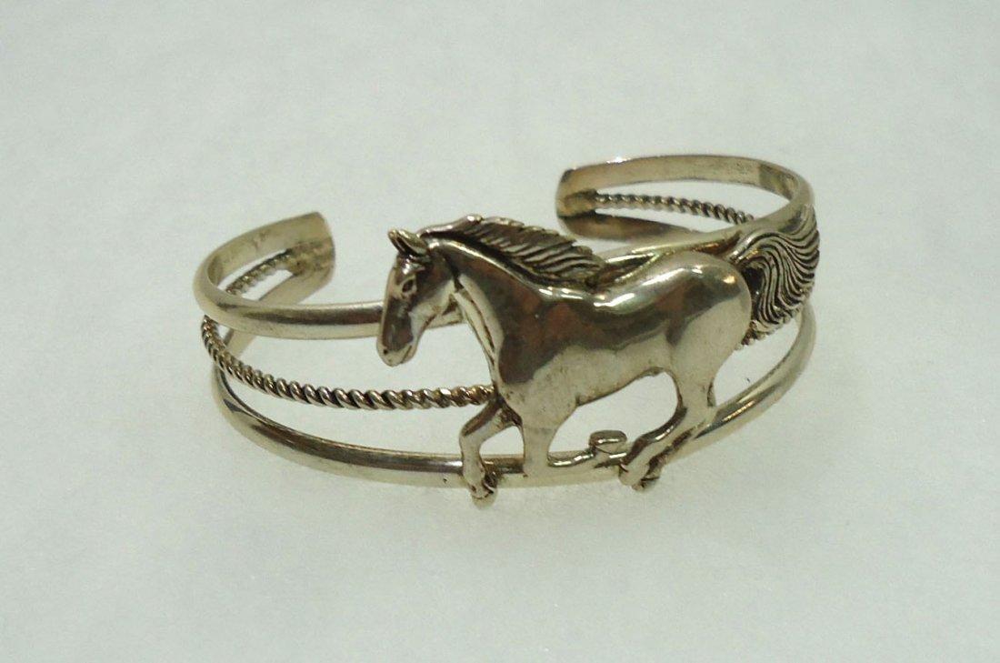 Navajo Sterling Horse Bracelet