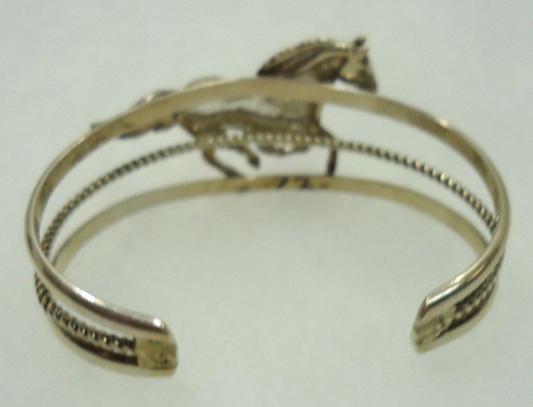 Navajo Sterling Horse Bracelet - 3