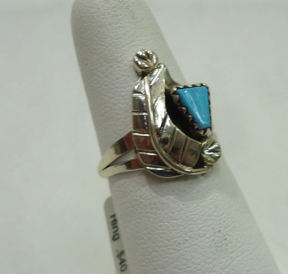 Zuni Sterling, Turquoise Ring