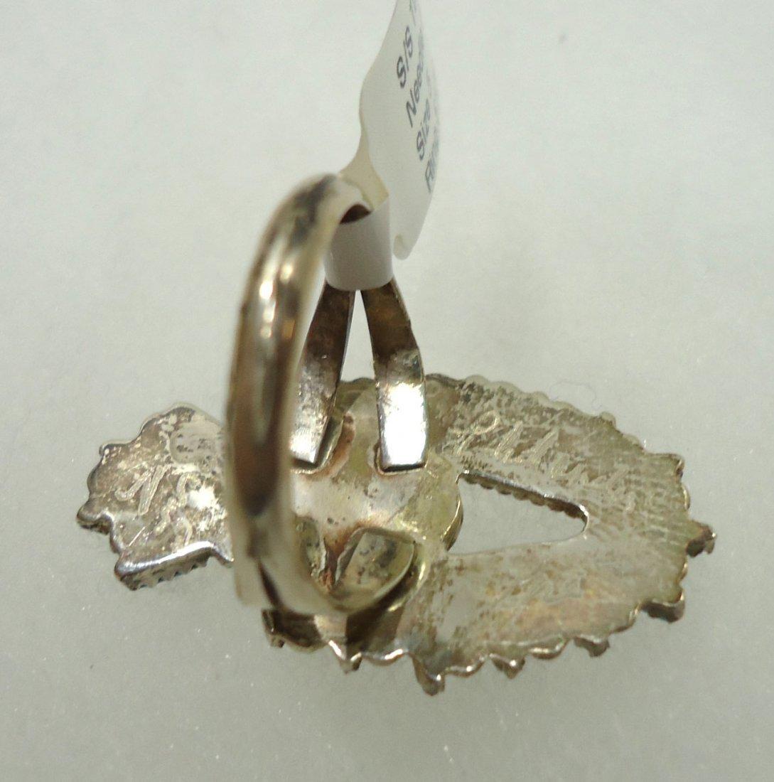Zuni Sterling Turq. Ring - 4