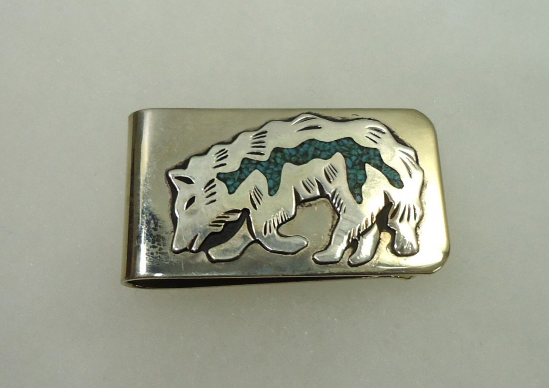 Navajo Sterling Turq. Money Clip
