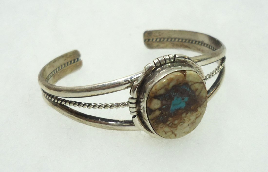 Navajo Sterling Turq. Bracelet