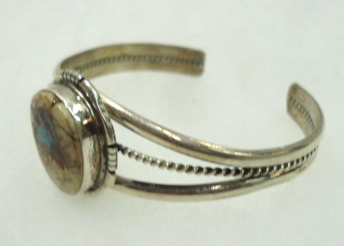 Navajo Sterling Turq. Bracelet - 2
