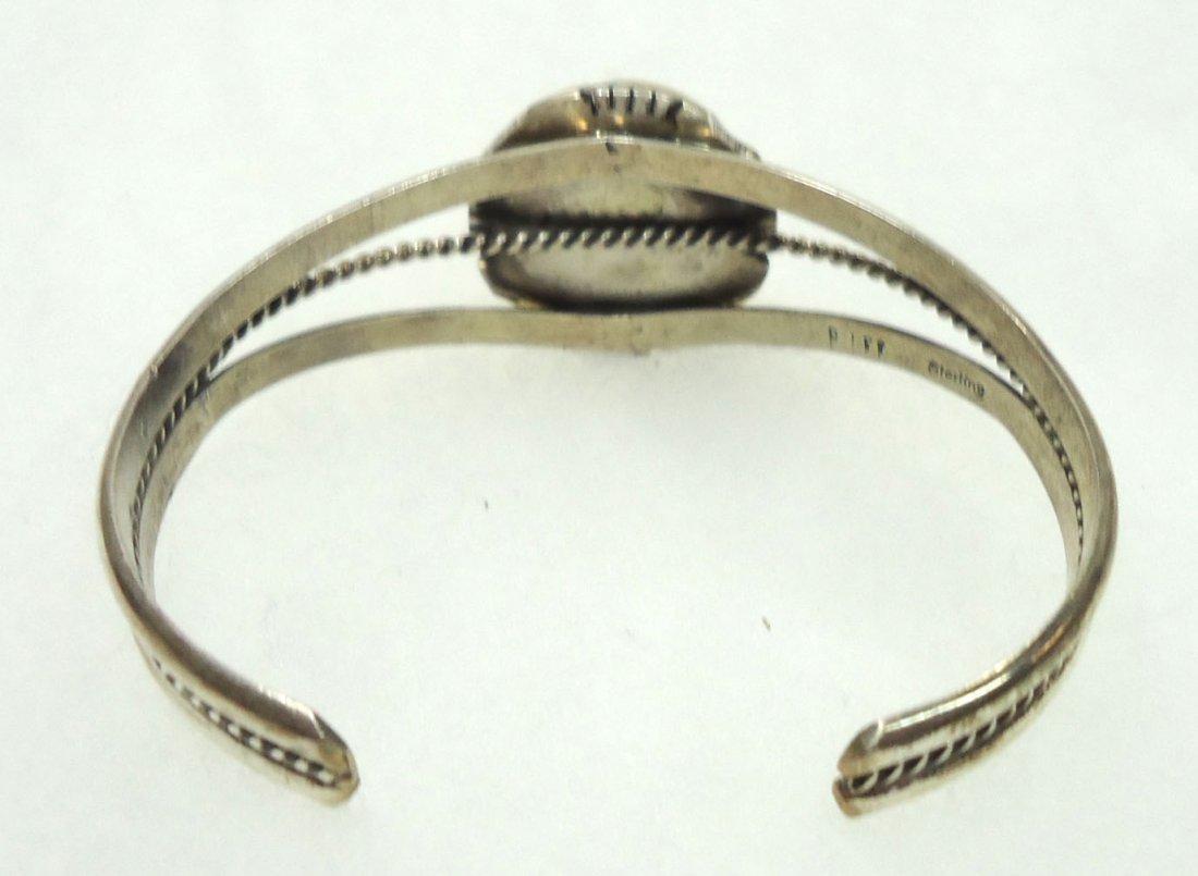 Navajo Sterling Turq. Bracelet - 3