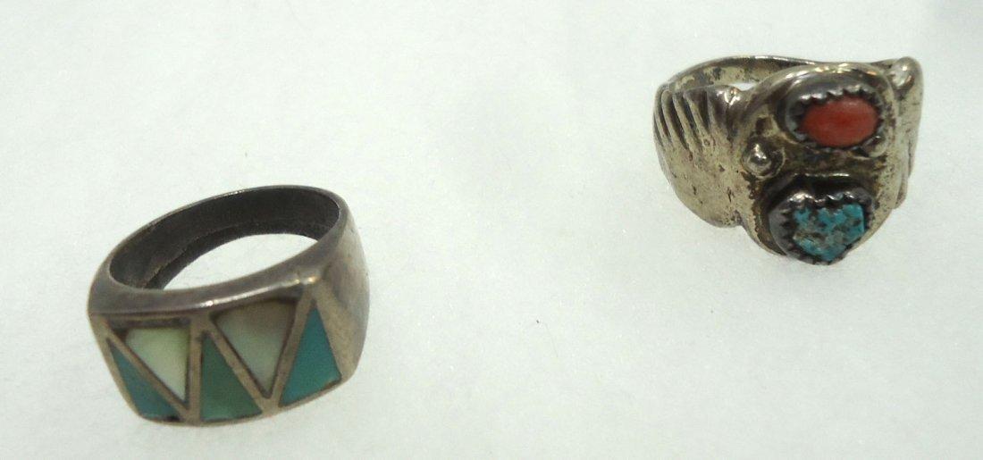 5 Sterling Turq. Rings - 4