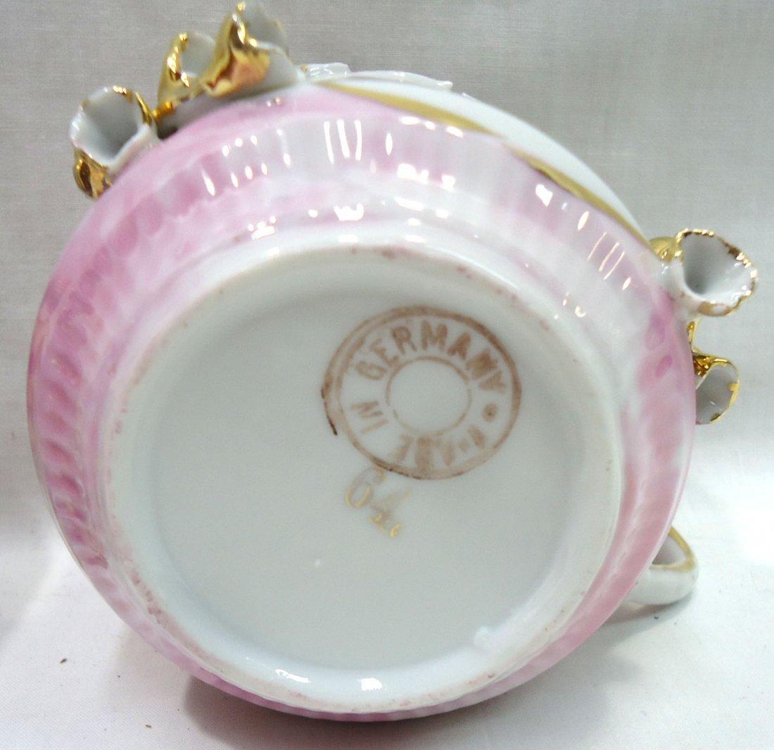 2 Victorian HP Shaving Mugs - 4