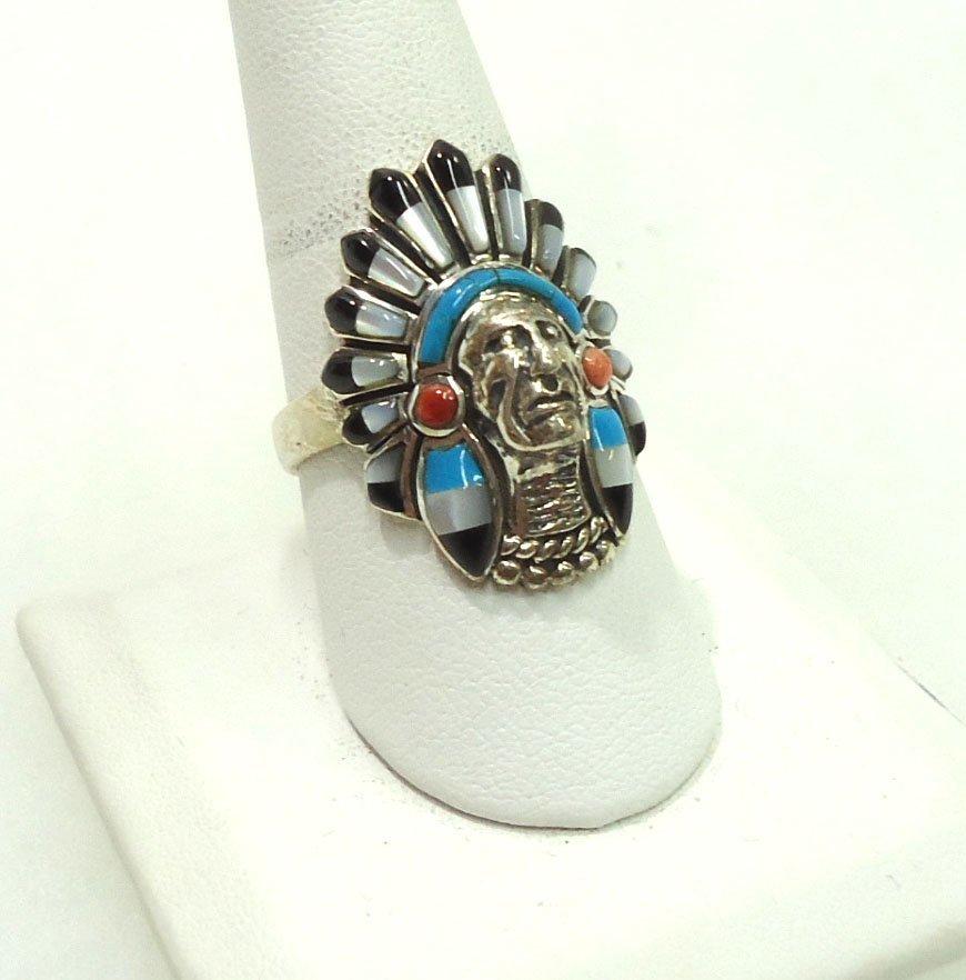 Navajo Sterling, Turq. Ring