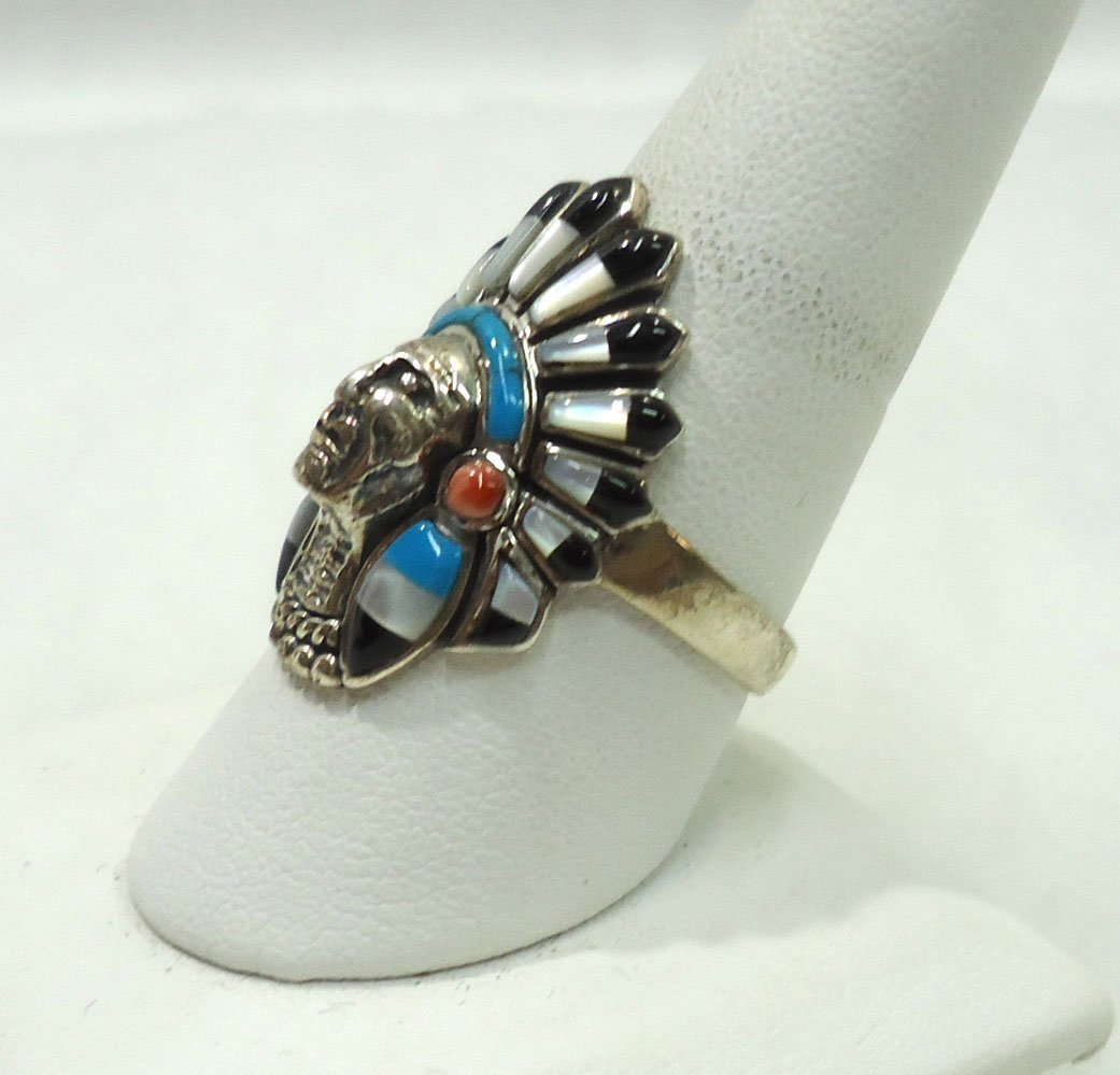 Navajo Sterling, Turq. Ring - 2
