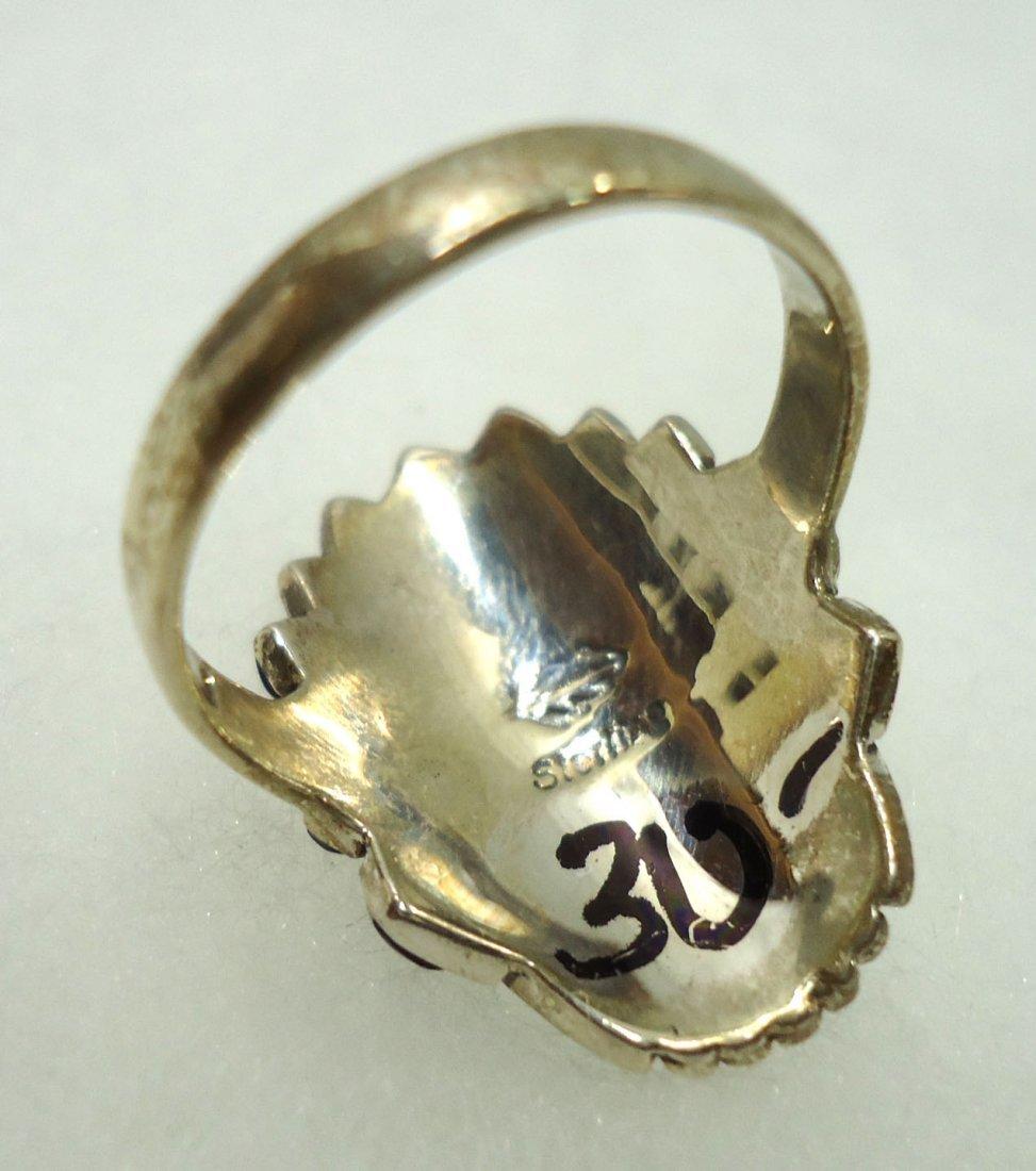 Navajo Sterling, Turq. Ring - 4