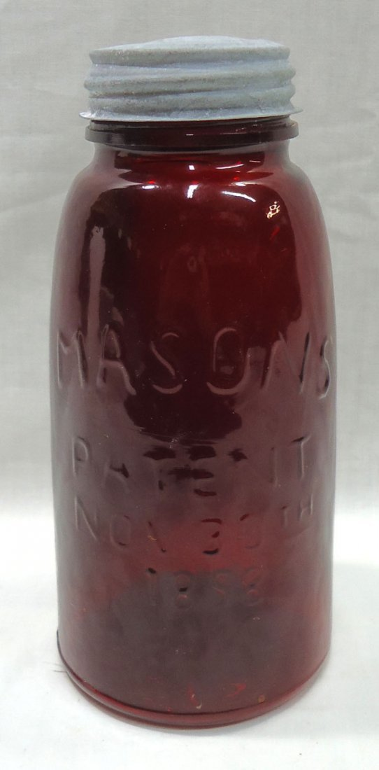 Modern Red Manson's 1858 Jar