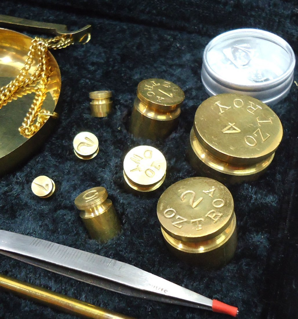 Modern Brass Set of Gold Scales - 2