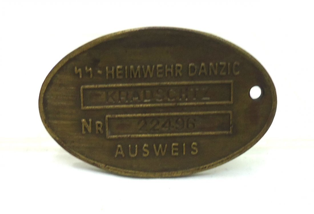 Modern Nazi Brass Tag
