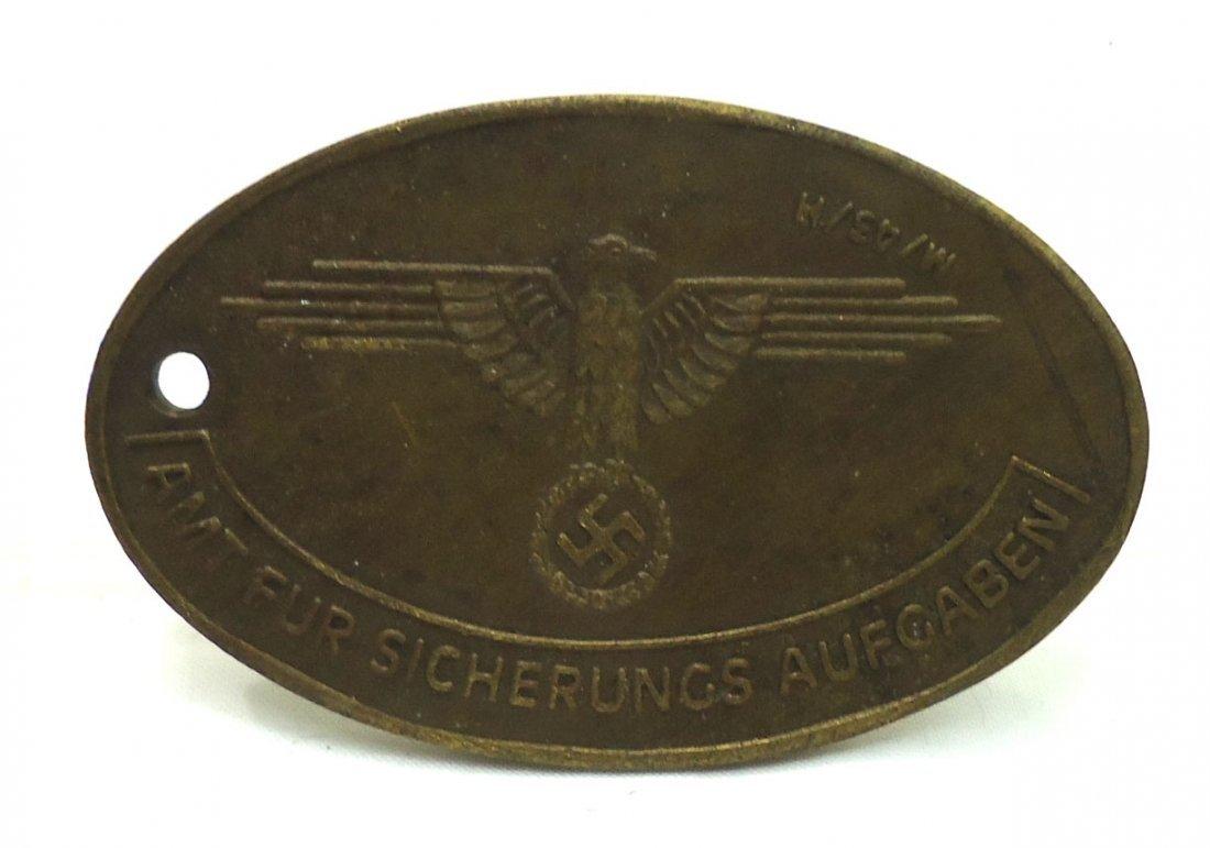 Modern Nazi Brass Tag - 2