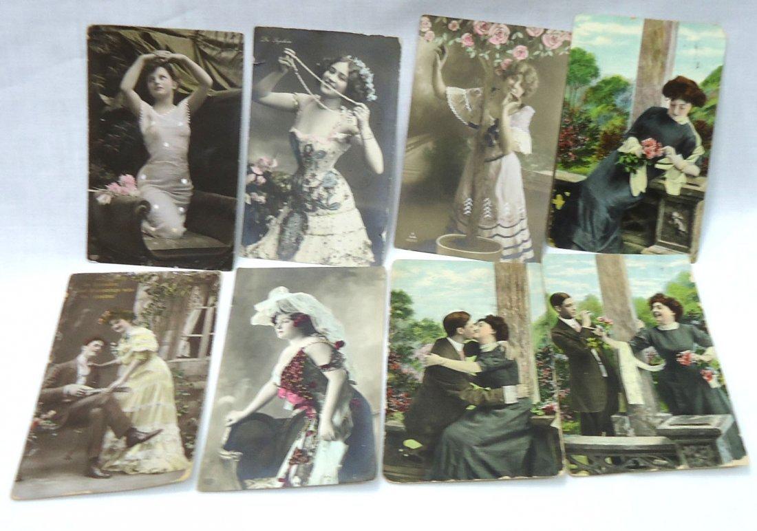 (8) 1908 Post Cards w/ Women