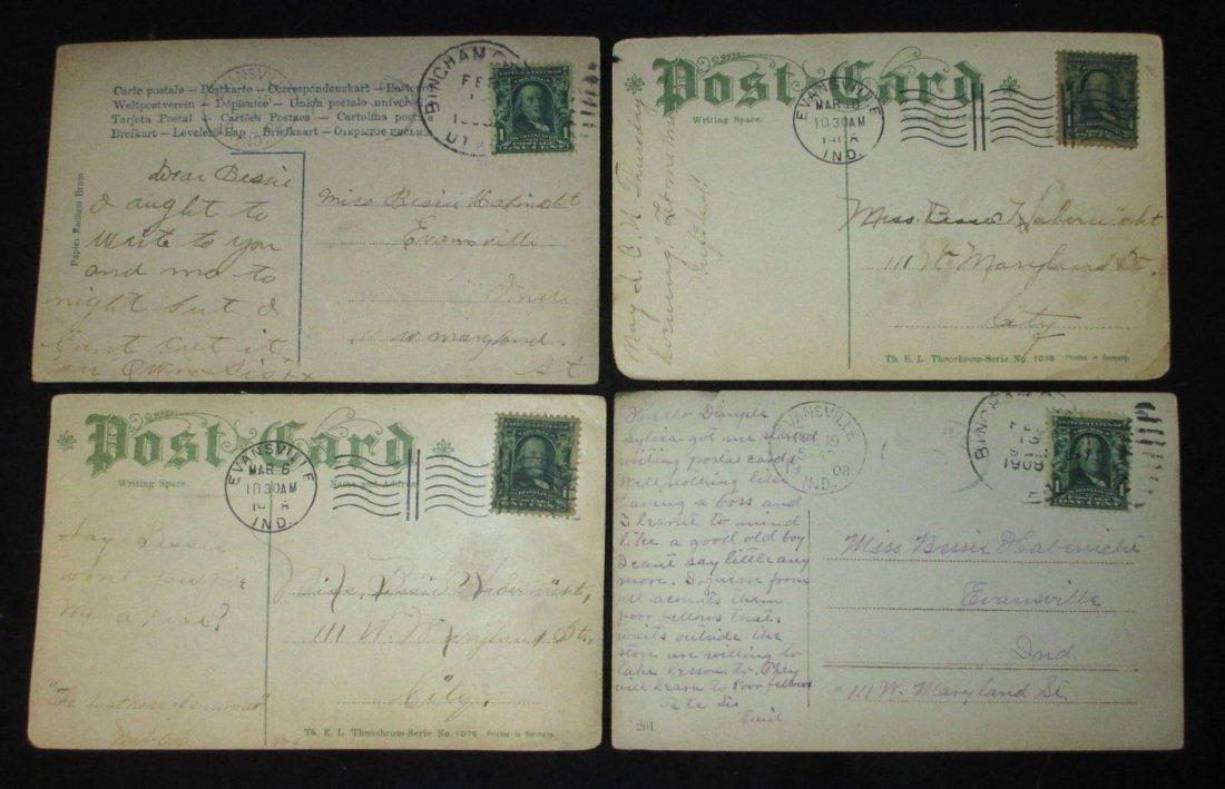 (8) 1908 Post Cards w/ Women - 7