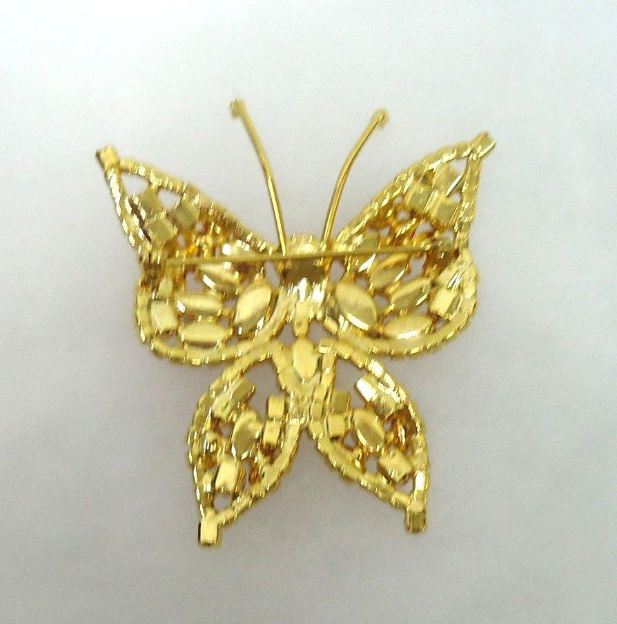 Rhinestone Butterfly Brooch - 3