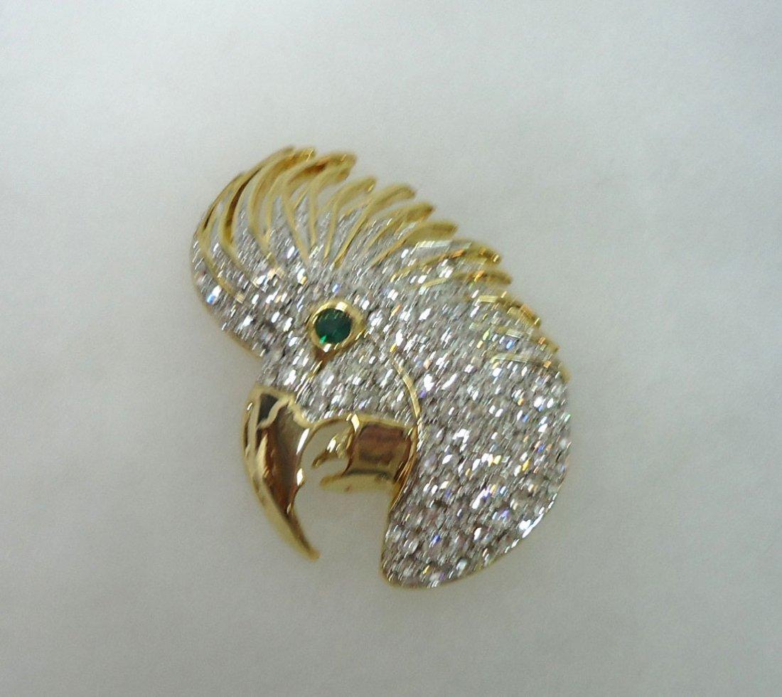 2- Costume Rhinestone Brooches - 2
