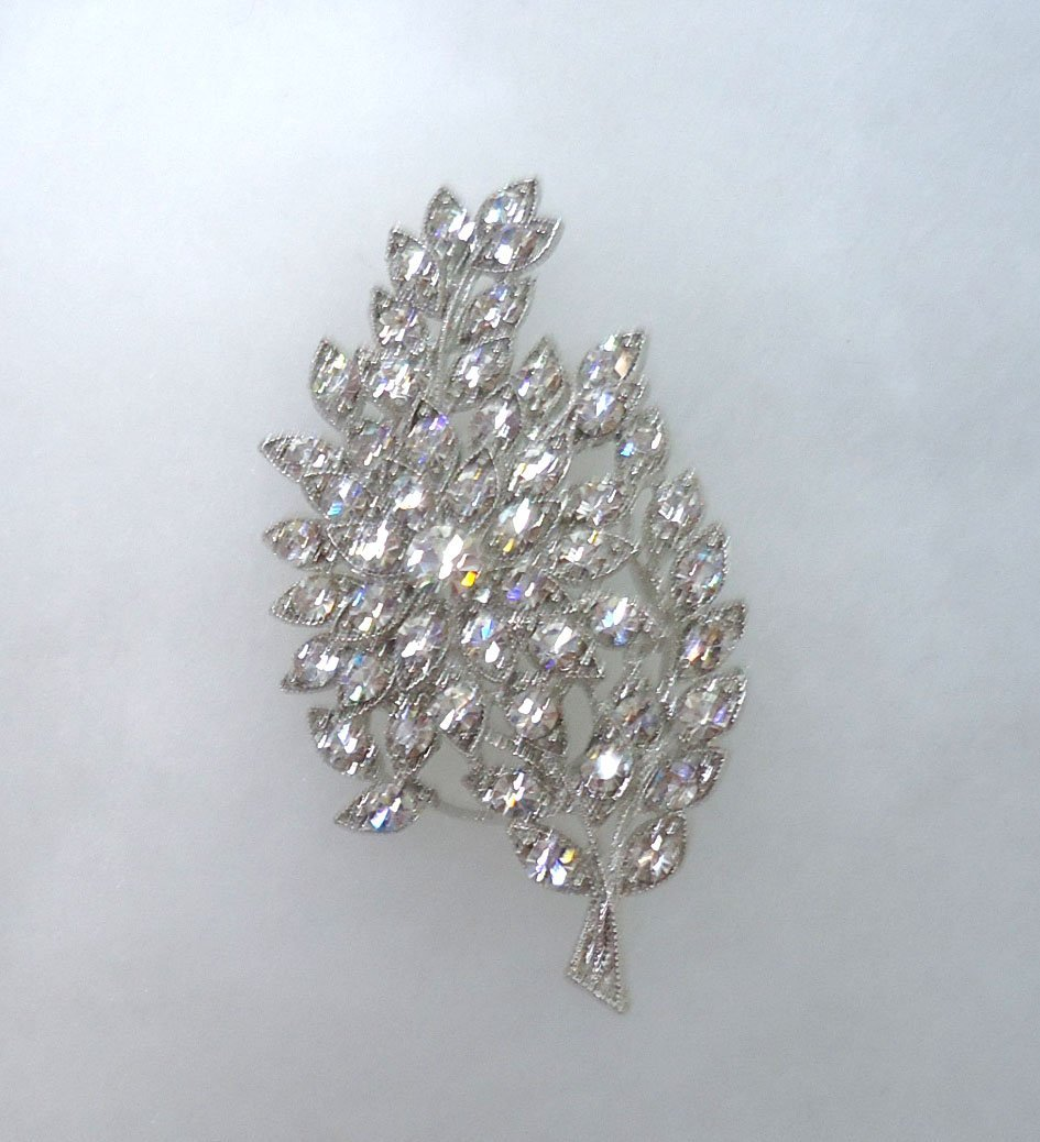 2- Costume Rhinestone Brooches - 4