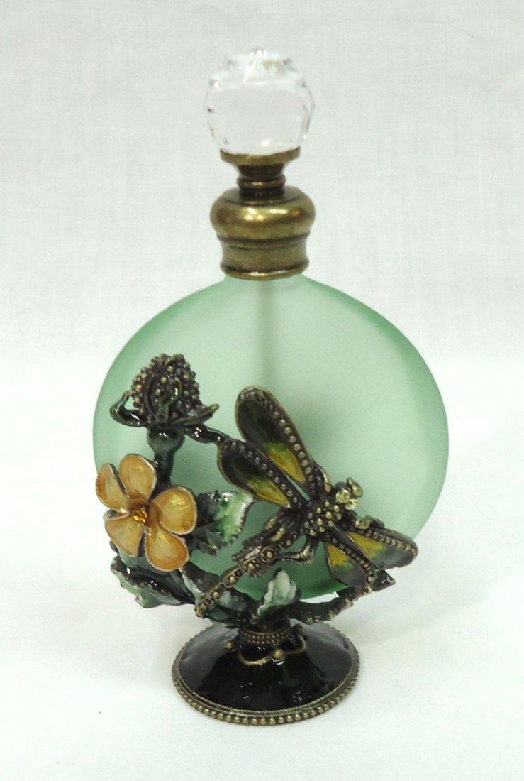 Enameled Dragonfly Perfume Bottle