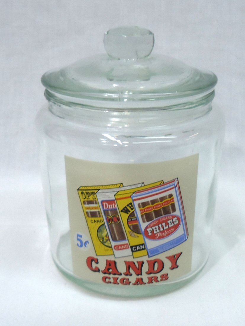 Modern Candy Cigars Store Jar