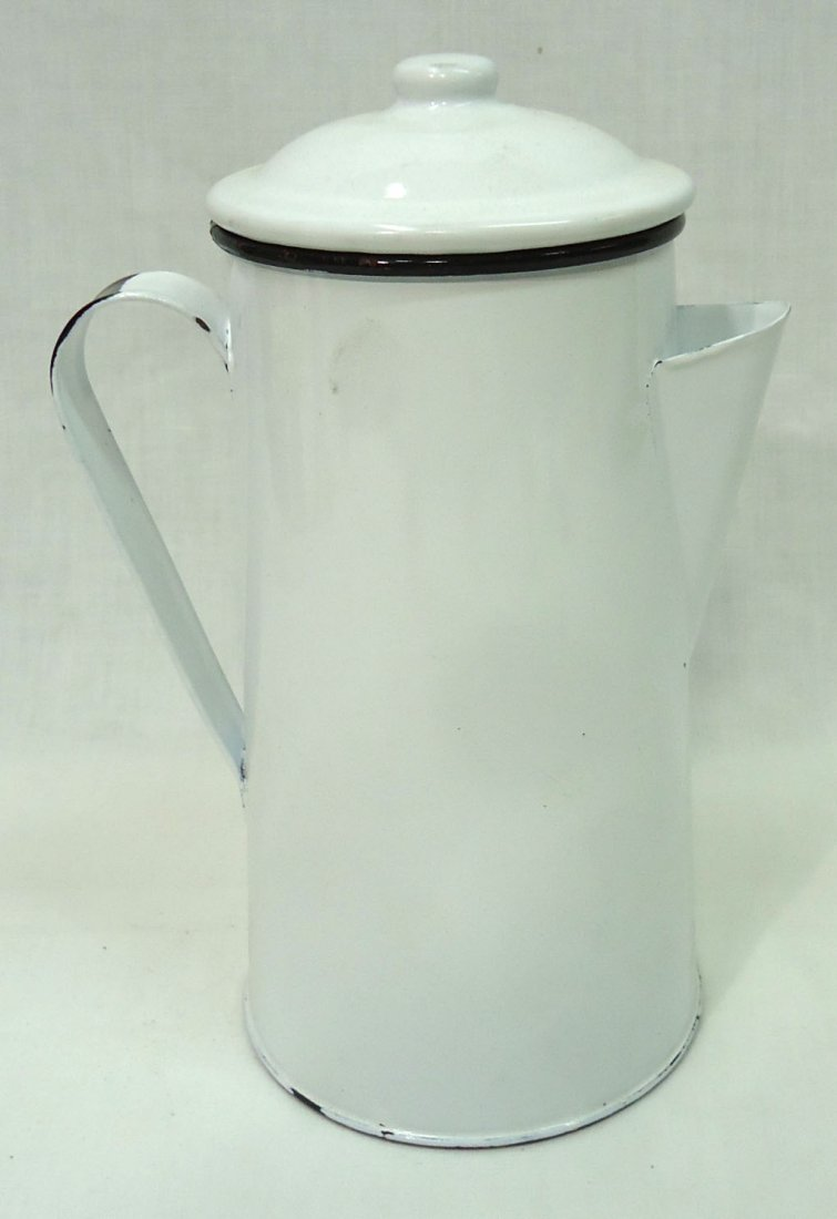 Modern Enameled Luzianne Coffee  Pot - 3