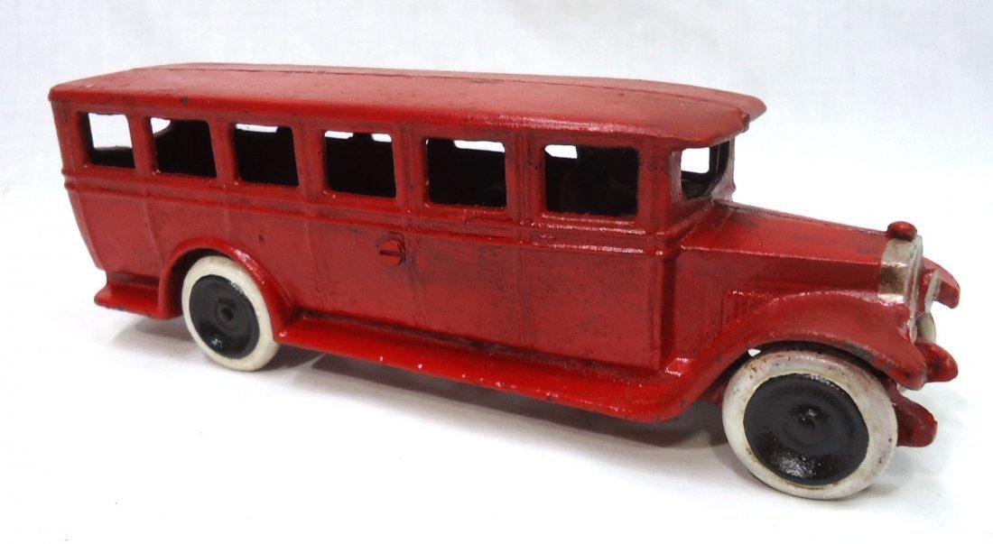 Modern Cast Iron Toy Bus - 3