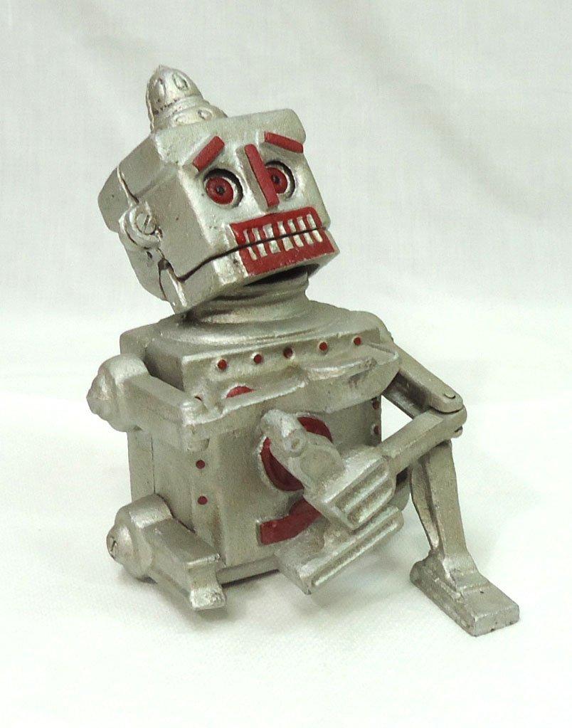 Modern Cast Iron Robert Robot Mech. Bank