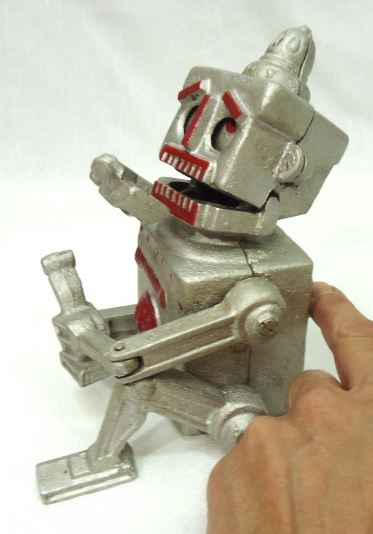 Modern Cast Iron Robert Robot Mech. Bank - 2