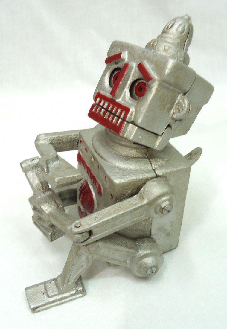 Modern Cast Iron Robert Robot Mech. Bank - 3