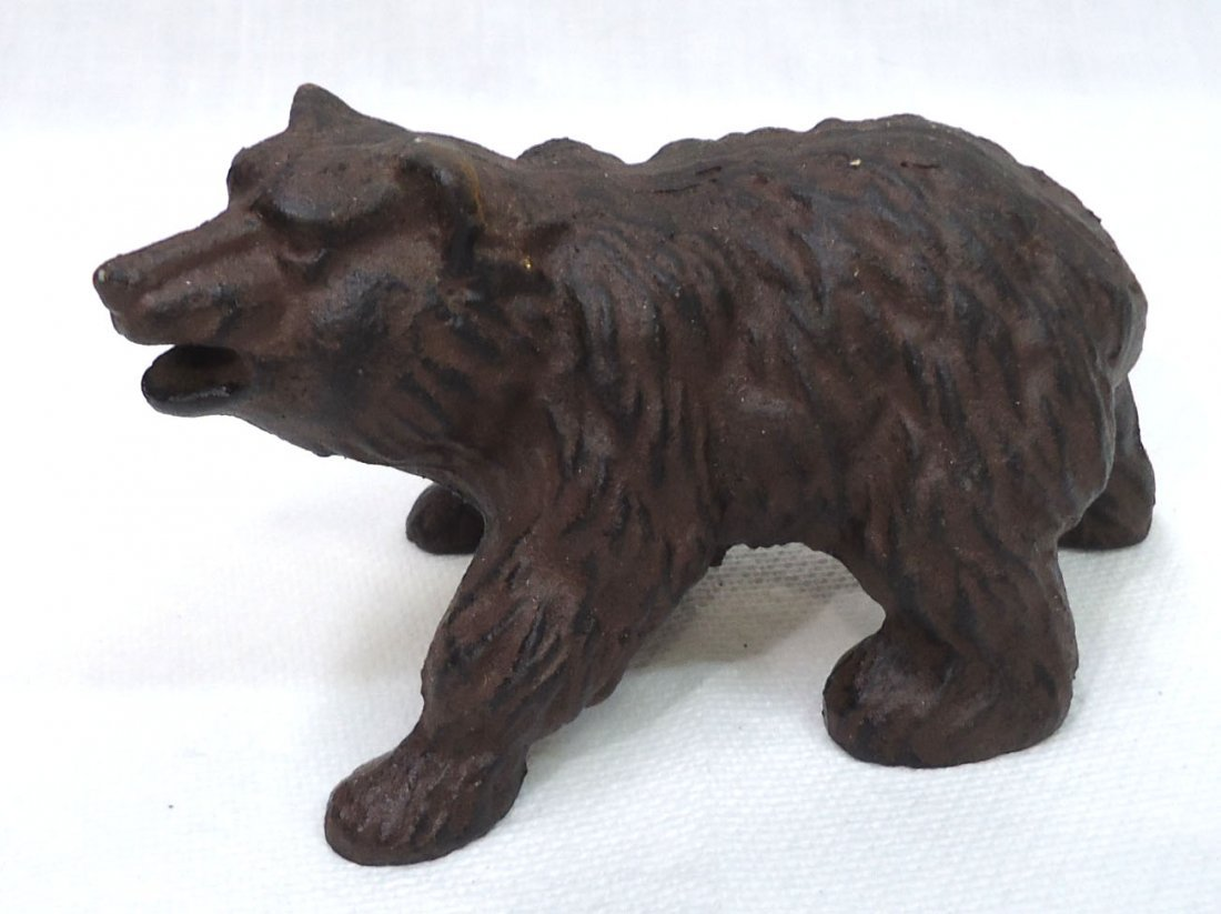 Modern Cast Iron Bear Doorstop