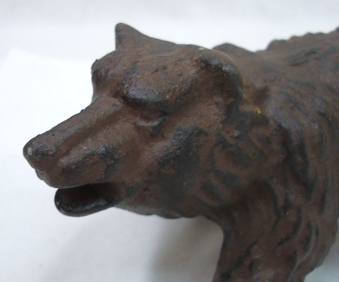 Modern Cast Iron Bear Doorstop - 2