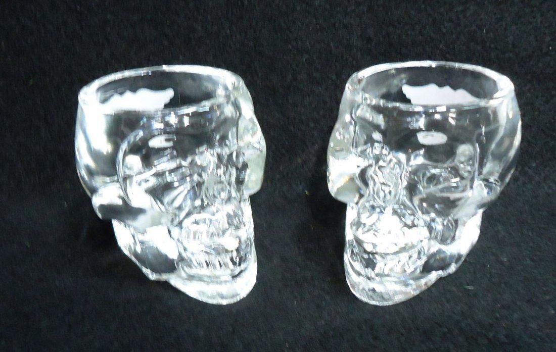 Pr. Modern Harley Davidson Skull Shot glasses